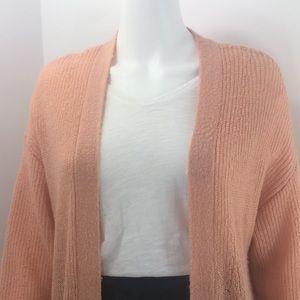 Gentle Fawn peach lightweight cardi sweater SML